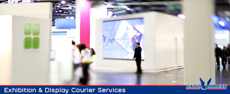 Exhibition and display courier services