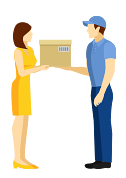 Collect and return courier service